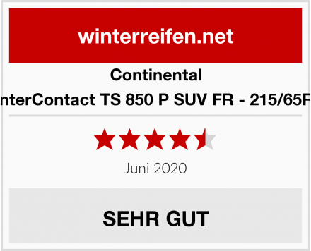 Continental WinterContact TS 850 P SUV FR - 215/65R16 Test