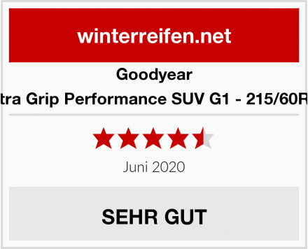 Goodyear Ultra Grip Performance SUV G1 - 215/60R17 Test