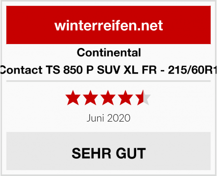 Continental WinterContact TS 850 P SUV XL FR - 215/60R17 100V Test