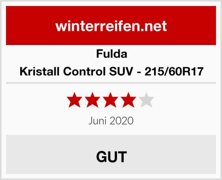 Fulda Kristall Control SUV - 215/60R17 Test