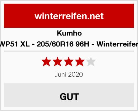Kumho WP51 XL - 205/60R16 96H - Winterreifen Test