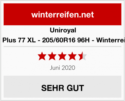 Uniroyal MS Plus 77 XL - 205/60R16 96H - Winterreifen Test