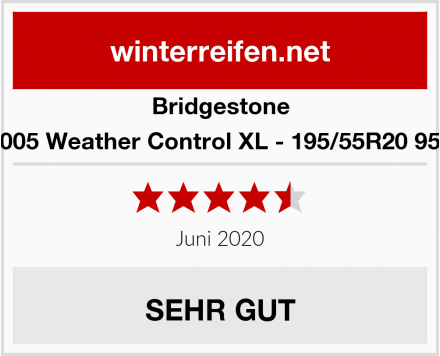 Bridgestone A005 Weather Control XL - 195/55R20 95H Test