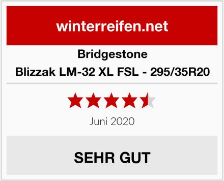 Bridgestone Blizzak LM-32 XL FSL - 295/35R20 Test