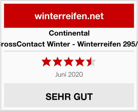 Continental ContiCrossContact Winter - Winterreifen 295/40 R20 Test