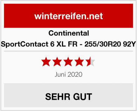 Continental SportContact 6 XL FR - 255/30R20 92Y Test