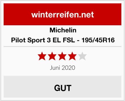 Michelin Pilot Sport 3 EL FSL - 195/45R16 Test