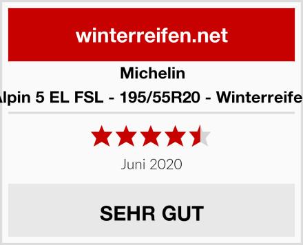 Michelin Alpin 5 EL FSL - 195/55R20 - Winterreifen Test