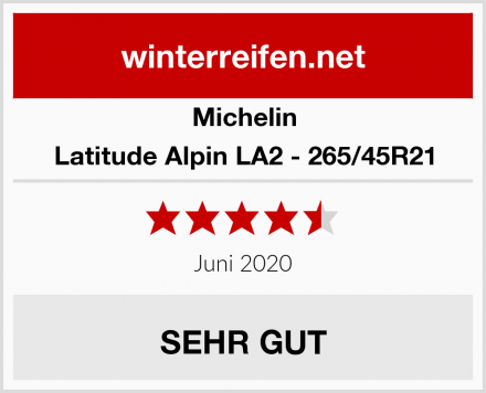 Michelin Latitude Alpin LA2 - 265/45R21 Test