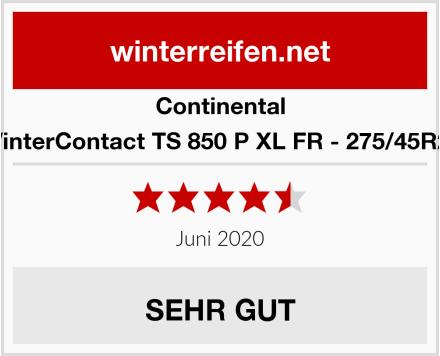 Continental WinterContact TS 850 P XL FR - 275/45R21 Test