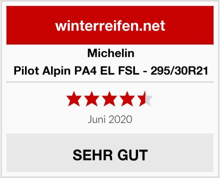 Michelin Pilot Alpin PA4 EL FSL - 295/30R21 Test