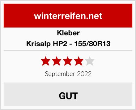 Kleber Krisalp HP2 - 155/80R13 Test