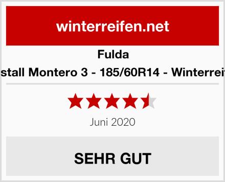 Fulda Kristall Montero 3 - 185/60R14 - Winterreifen Test