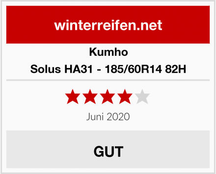 Kumho Solus HA31 - 185/60R14 82H Test
