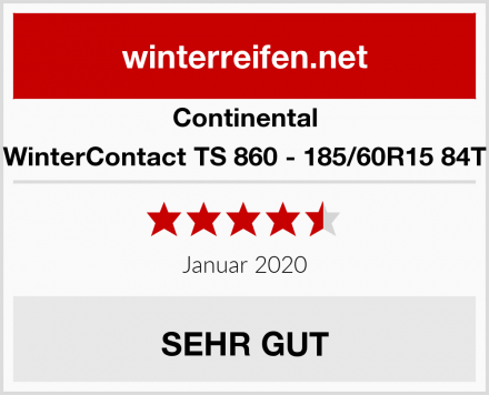Continental WinterContact TS 860 - 185/60R15 84T Test