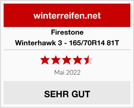 Firestone Winterhawk 3 - 165/70R14 81T Test