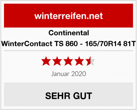 Continental WinterContact TS 860 - 165/70R14 81T Test