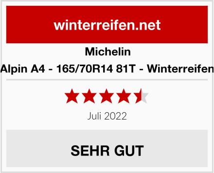 Michelin Alpin A4 - 165/70R14 81T - Winterreifen Test
