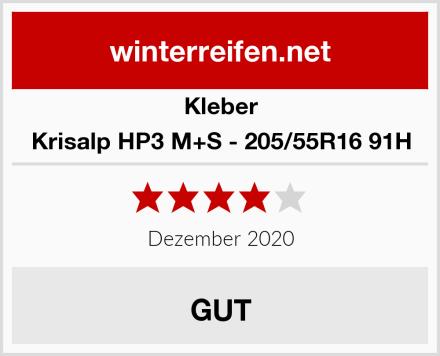 Kleber Krisalp HP3 M+S - 205/55R16 91H Test