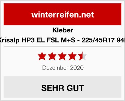 Kleber Krisalp HP3 EL FSL M+S - 225/45R17 94H Test