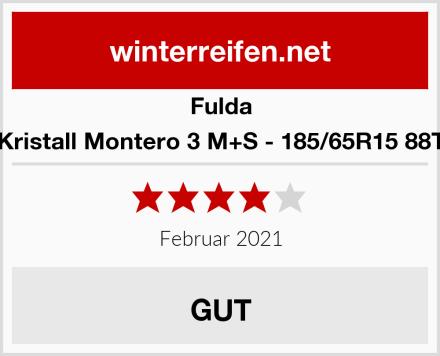 Fulda Kristall Montero 3 M+S - 185/65R15 88T Test