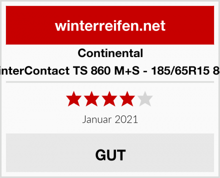 Continental WinterContact TS 860 M+S - 185/65R15 88T Test