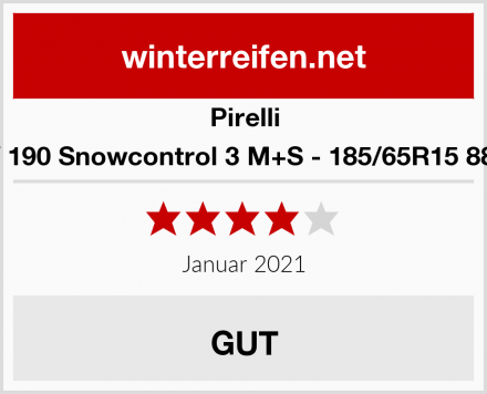 Pirelli W 190 Snowcontrol 3 M+S - 185/65R15 88T Test