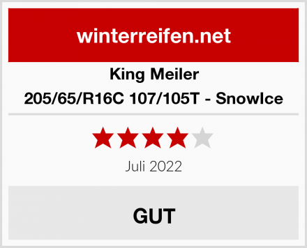 King Meiler 205/65/R16C 107/105T - SnowIce Test