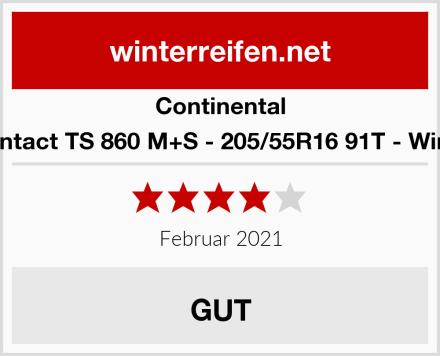 Continental WinterContact TS 860 M+S - 205/55R16 91T - Winterreifen Test