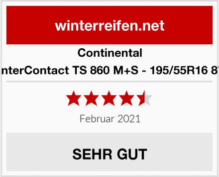 Continental WinterContact TS 860 M+S - 195/55R16 87H Test