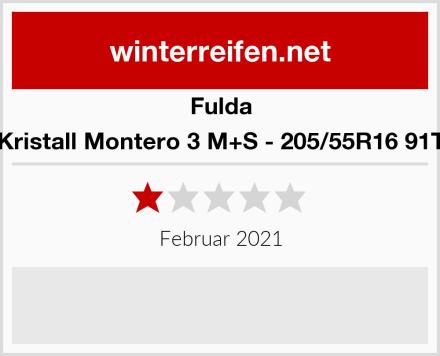 Fulda Kristall Montero 3 M+S - 205/55R16 91T Test