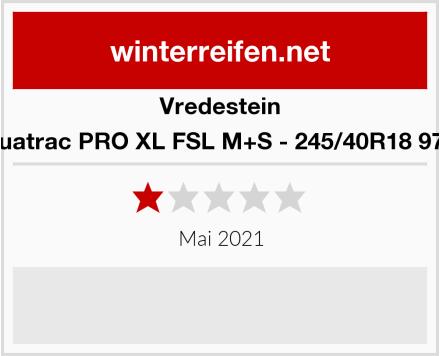 Vredestein Quatrac PRO XL FSL M+S - 245/40R18 97Y Test