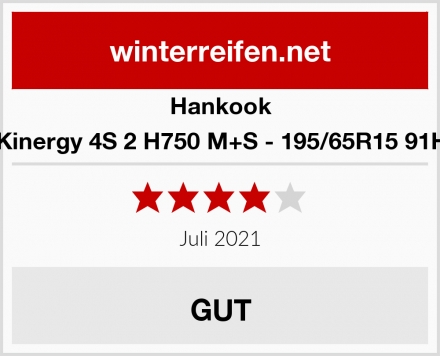 Hankook Kinergy 4S 2 H750 M+S - 195/65R15 91H Test