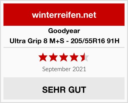 Goodyear Ultra Grip 8 M+S - 205/55R16 91H Test