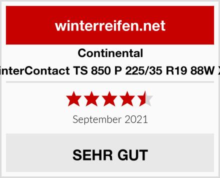 Continental WinterContact TS 850 P 225/35 R19 88W XL Test
