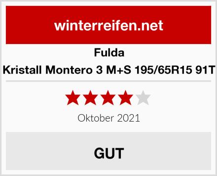 Fulda Kristall Montero 3 M+S 195/65R15 91T Test