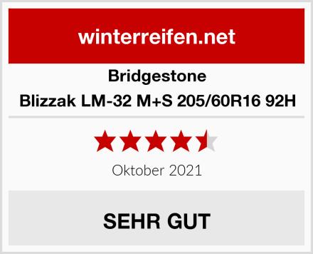 Bridgestone Blizzak LM-32 M+S 205/60R16 92H Test