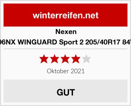 Nexen 16896NX WINGUARD Sport 2 205/40R17 84V XL Test